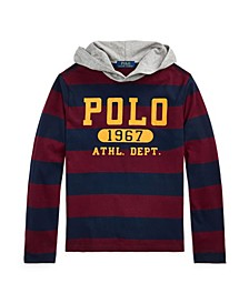 Big Boys Striped Jersey Hooded T-shirts