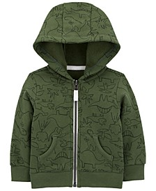 Baby Boys Dinosaur Zip-Front Fleece Jacket