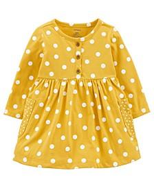 Baby Girls Polka Dot Jersey Dress