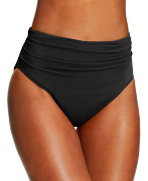 MAGICSUIT Ruched Swim Brief Bottoms Women'S Swimsuit in Black