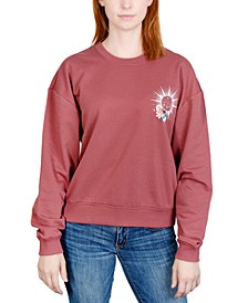 Juniors' Celestial Floral Graphic Sweatshirt