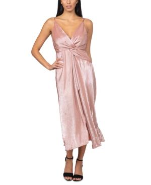 Twisted Pleated Maxi Dress