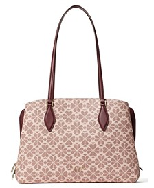 Spade Flower Coated Canvas Zeezee Large Tote