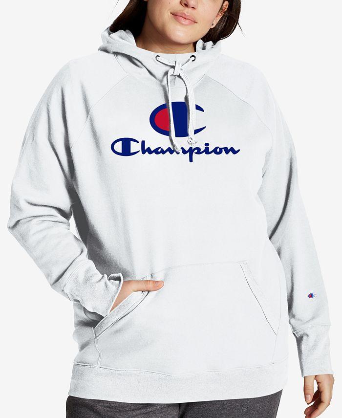 Champion - Plus Size Powerblend Graphic Hooded Sweatshirt