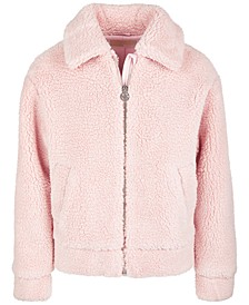 Big Girls Faux-Fur Teddy Jacket