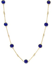 "EFFY® Dyed Jade 18"" Collar Necklace in 14k Gold (Also in Lapis Lazuli)"