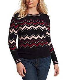 Trendy Plus Size Marcelina Striped Sweater