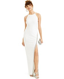 Juniors' Embellished Asymmetrical Gown, Created for Macy's