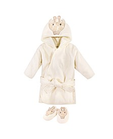 Boys and Girls Cotton Animal Face Bathrobe
