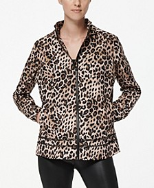 Women's Leopard Windbreaker Raincoat