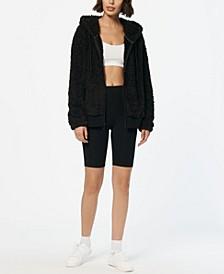 Women's Ultra Soft Faux Fur Hooded Zip Up