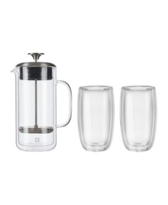 Zwilling Sorrento French Press and Latte Glasses, Set of 3