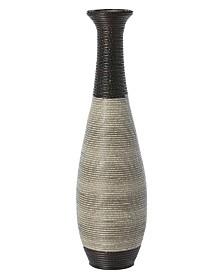 Tall Trumpet Design Decorative Artificial Rattan Wire Pattern Floor Vase