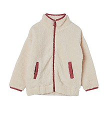 Big Girls Tina Teddy Zip Through Jacket