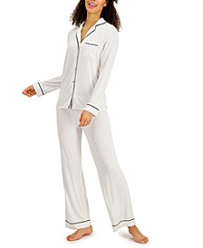 Printed Ultra-Soft Pajama Set, Created for Macy's