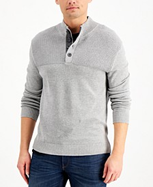 Men's Ribbed Four-Button Sweater, Created for Macy's