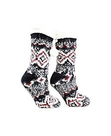 Women's Snow Falls Shea Butter Infused Lounge Aroma Sole Socks, 2 Piece