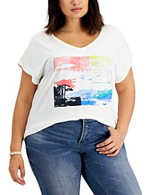 Plus Size Graphic Print T-Shirt, Created for Macy's