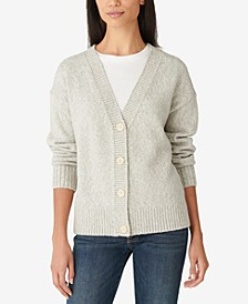 Button-Front Shine Cardigan