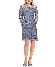 Embellished Illusion Sheath Dress