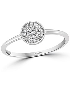 EFFY® Diamond Cluster Ring (1/10 ct. t.w.) in Sterling Silver
