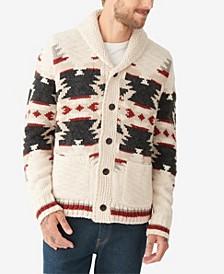 Men's Sherpa-Lined Legacy Shawl Collar Cardigan Sweater