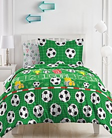 Soccer Field Comforter Bed in a Bag, Twin