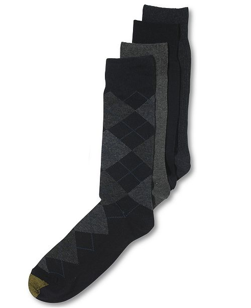 03d02132fd6a1 Gold Toe Men's Socks, Dress Argyle 4 Pack, Created for Macy's ...