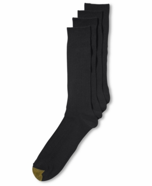 Gold Toe Men's Socks, Dress Rib 4 Pack