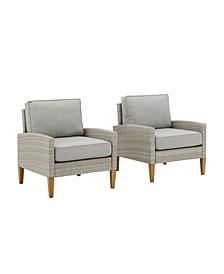 Capella Outdoor Wicker 2 Piece Chair Set