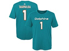 Miami Dolphins Toddler Eligible Player Name and Number T-Shirt Tua Tagovailoa