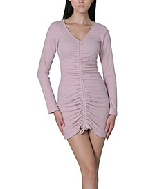 Juniors' Ruched-Front Bodycon Dress