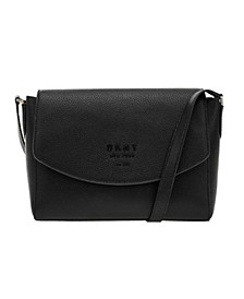 Noho Leather Flap Crossbody Bag