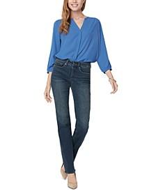 Petite Marilyn Straight-Leg Tummy-Control Jeans