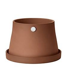 Terra Pot and Saucer, Medium