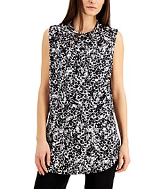 Printed Sleeveless Cowlneck Top, Created for Macy's