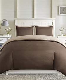 Larkspur 3 Pieces King 3M Scotchgard Reversible Duvet Cover Set