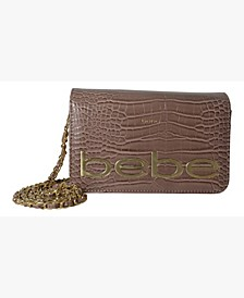 Fabiola Stamped Croco Crossbody
