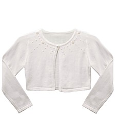Little Girl Long Sleeve Embellished Fly Away Cardigan
