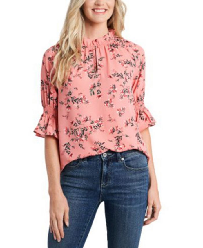 CeCe - Ruffled Floral-Print Top