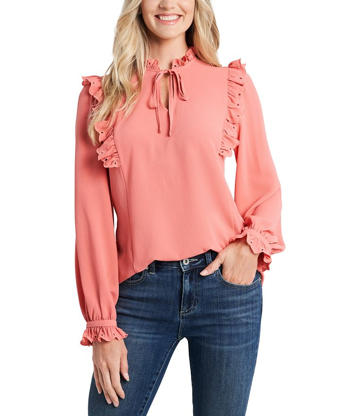 CeCe - Ruffled Tie-Neck Blouse