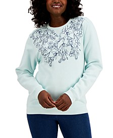 Necklace Bloom Fleece Top, Created for Macy's