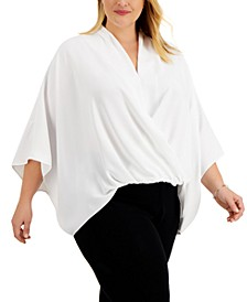 Plus Size Dolman-Sleeve Top, Created for Macy's