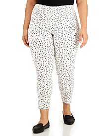 Plus Size Printed Pull-On Pants, Created for Macy's