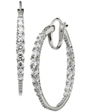 Medium Cubic Zirconia Hoop Earrings