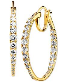 """Medium Cubic Zirconia Hoop Earrings, 1.12"""", Created for Macy's"""