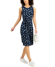 Printed Belted Dress, Created for Macy's