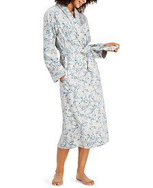 Printed Cotton Wrap Robe, Created for Macy's