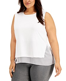 Plus Size Overlay Tank Top, Created for Macy's
