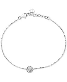 EFFY® Diamond Pavé Circle Link Bracelet (1/10 ct. t.w.) in Sterling Silver